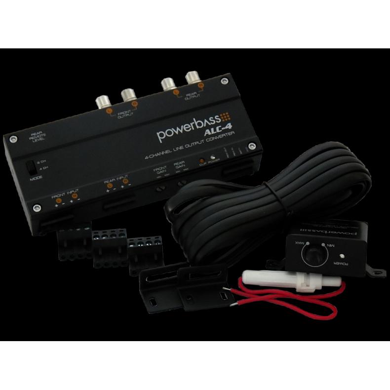 PowerBass ALC-4 konwerter RCA
