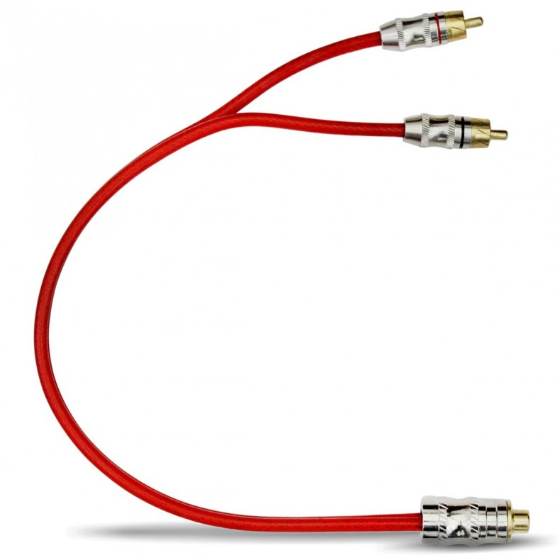 STETSOM RCA-Y GOLD rozdzielacz kabli RCA męski