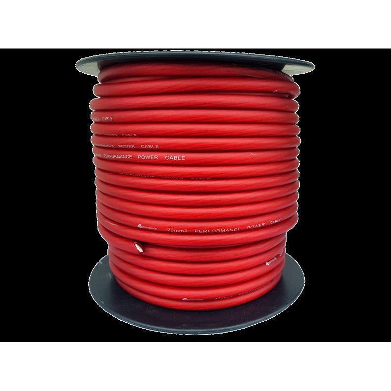 4Connect czerwony kabel zasilający 20 mm2
