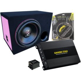Ground Zero GZIW 12SPL Bass Kit-BR Pink Edition